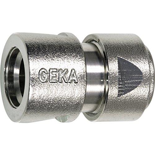 GEKA 701XSB Schlauchstück Stecksystem 1/2 Zoll MS NI mit Spannmutter 13 mm, Silber, 18 x 8 x 13 cm