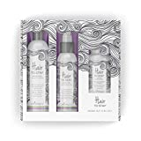 Lavenluv Hair to Stay Hair Care Set - 3 Piece Kit Including Organic Shampoo with Essential Oils, Vitamin Supplements, and After Shower Spray - Promote Healthy Growth, Repair and Strengthen Roots