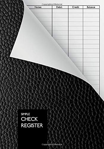 Simple Check Register: DIN A5 | Check Log Book | Debit Card Ledger | 110 Pages | Durable Softcover