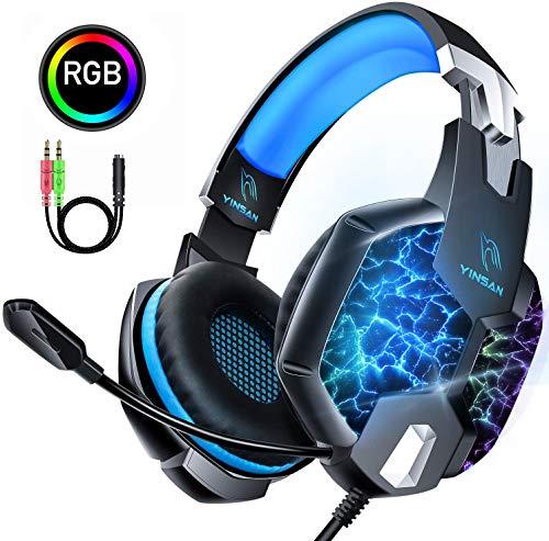 professionnel comparateur YINSAN TM5, casque de jeu PS4, casque de jeu Xbox One avec microphone réglable pour la suppression du bruit, casque… choix