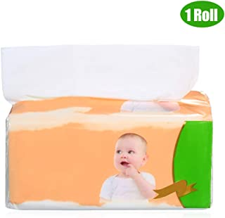 Anself Single Pack 4 Layers Wood Pulp Facial Tissue Toilet Paper Tissue Paper Napkins Household Tissues for Home Office Bathroom 480 Sheet Per Pack 16 * 18cm