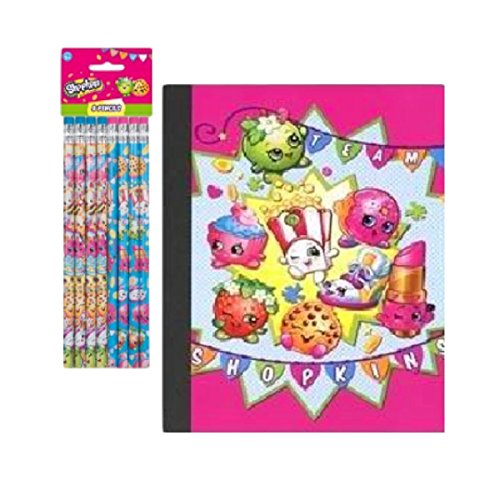 Shopkins School Supplies Composition Book and Pencil Pack