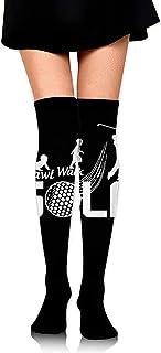 Jesse Tobias, Crawl Walk Golf Evolution Mujeres 'S Fashion Muslo Calcetines altos sobre la rodilla Medias altas