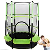 GUOHAPPY Trampoline garden trampoline, children trampoline 50kg resilient, indoor outdoor garden trampoline with safety net, children from small to have a healthy body