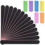 20 Pack Nail Files and Buffer, EAONE Double Sided Emery Board, Manicure Set include 14 Pie...