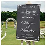 Welcome to Our Wedding, Custom Wedding Sign, Wedding Welcome Sign, Chalkboard Sign, Wedding Party Signs, Handmade Party Supply, Custom Banner and Sign, Size 24x18, 36x24 and 48x36