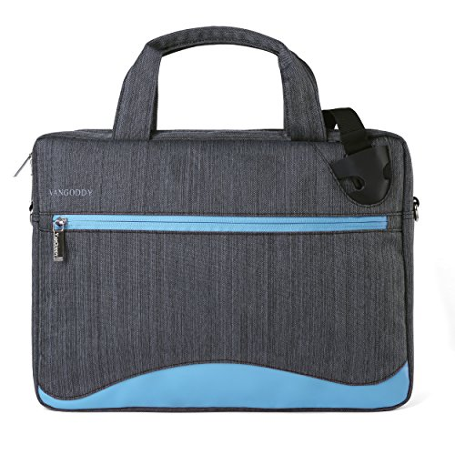 Blue Anti-Theft Laptop Messenger Bag for Microsoft Surface Pro 7 6 12.3, Pro X 13, Laptop 3 2 13.5