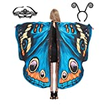 Sevendec Butterfly Wings Womens Halloween Costumes Fairy Wings Adult Soft Fabric with Face Mask for Party Custome Accessory