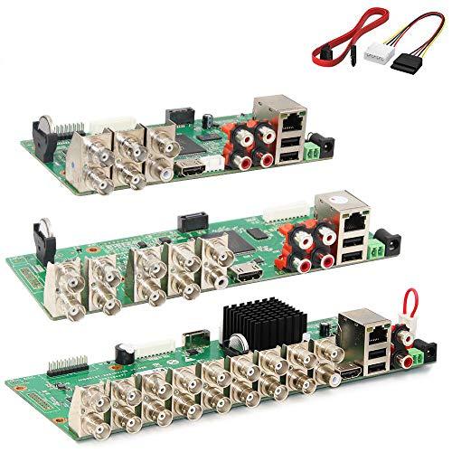JCMY Módulo de relevo AHD DVR Vigilancia Seguridad CCTV grabadora de CCTV 1080N Tablero DVR para analógico AHD CVI TVI IP 6 en 1 5M-N / 4M-N Kit de componentes electrónicos (Color : 16CH)