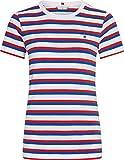 Tommy Hilfiger TH Cool ESS Slim Round-NK SS Camiseta sin Mangas para bebés y niños pequeños, Rosso, XXS para Mujer