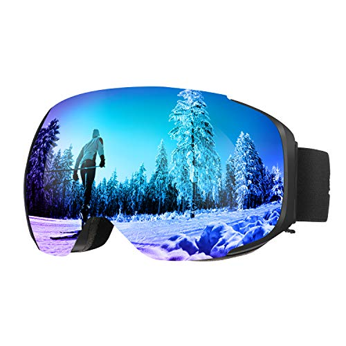ENKEEO Ski Goggles Detachable Dual Layer Anti-Fog Lens 100% UV400...