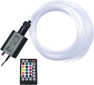 Ninth-Mart Car Use 16W RGBW LED Fiber Optic Star Ceiling Light Kit for Car or Room, Music Mode Sound Sensor, 28 Keys Remote Controller, 220 PCS 0.03in 6.5ft Long