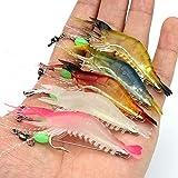 【Happy Shopping Day】 OriGlam 5pcs Soft Luminous Shrimp Lure Set, 5...