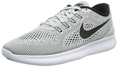 Nike Herren Free RN Laufschuhe, Grau (White/Black-Pure Platinum), 48 1/2 EU