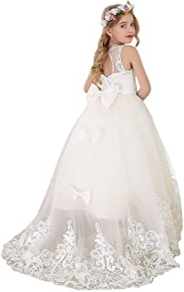 Flower Girl Dress Princess Long Girls Pageant Dresses Kids Prom Puffy Tulle Ball Gown