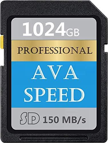AVASPEED Professional 1024GB SDXC UHS-II Memory Card, V60, U3, Max 150MB/S High Speed Full HD Video Digital Camera (1024GB-T)