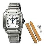 Cartier Santos De Cartier WSSA0010 - Reloj automático para Hombre, tamaño Mediano