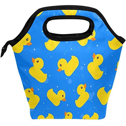 Mittagessen Tasche Niedliche Gelbe Entenwassersee-Freienkühler-Isolierschulhandtaschen-Mittagessen-Taschenmann Einkaufstasche Lunchbox-Frau