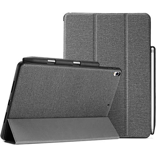 """ProCase Funda Folio iPad Air 10.5""""/Pro 10,5, Carcasa Protectora con Portalápiz Soporte Plegable Tapa Inteligente para iPad Air 3.ª Generación 2019 / iPad Pro 10,5"""" 2017 –Gris"""