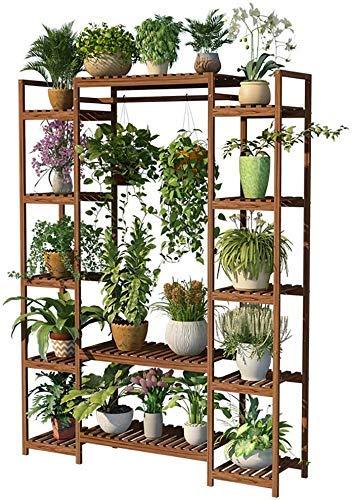 Wghz Madera Maciza Sala de Estar de múltiples Capas Decoración Decoración de Flores Soporte para Plantas Soportes para Plantas Soporte para macetas Soporte para Plantas Estante