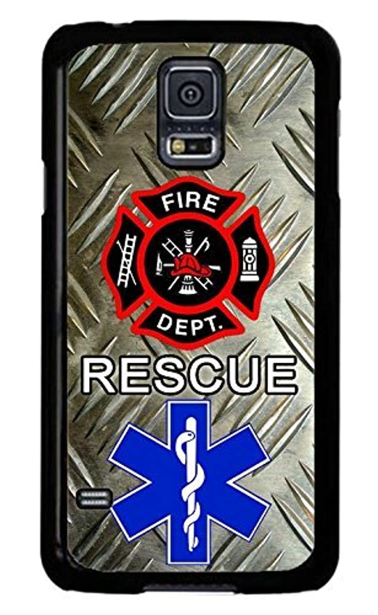 Turbo Delivery LLC - Firefighter Paramedic Fire Rescue Black case Cover Rubber Silicone Black Case Cover for Samsung Galaxy S10+ Plus 6.4 inch (2019 Model) Includes 1 Screen Protector ajbyw7061