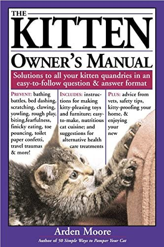 The Kitten Owner s Manual Solutions to all your Kitten Quandaries in an easy to follow question product image