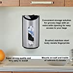 Greenco-Wall-Mount-Bag-Saver-Holder-and-Dispenser-Brushed-Stainless-Steel-Storage-Solution-with-an-Extra-Wide-Opening-for-Easy-Access-to-Your-Bags