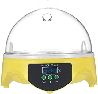 7 Eggs Mini Digital Egg Incubator Hatcher Transparent Eggs Hatching Machine Automatic Temperature Control for Chicken Duck...