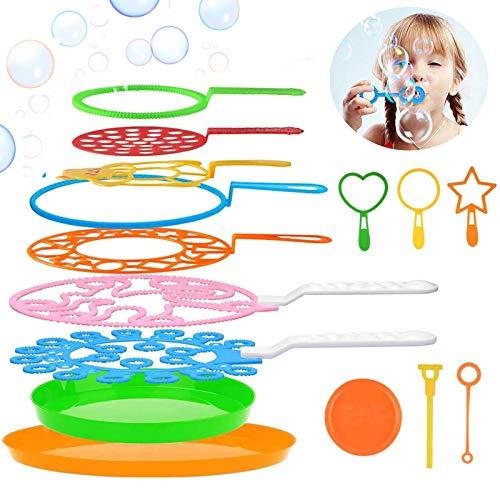 Joyibay Maquina de Burbujas, Burbujas de Jabón Kit de Varita de Burbujas Creativo Bubbles Maker para Juegos al Aire Libre en Interiores y Fiestas de Cumpleaños(15PCS)
