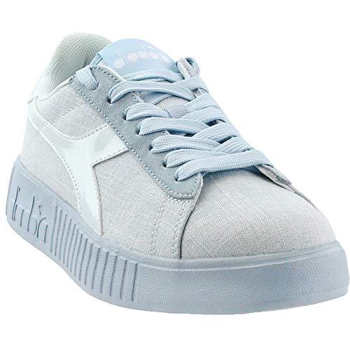Diadora Womens Game Step CV Casual Sneakers, Blue, 8