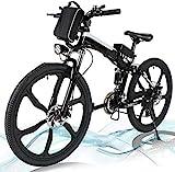 Jackbobo Vélo électrique Pliable, vélos électriques 36V 250W, vélo de Montagne à Batterie au Lithium 8A, vélo électrique de Grande capacité de 26 Pouces avec Batterie au Lithium et Chargeur
