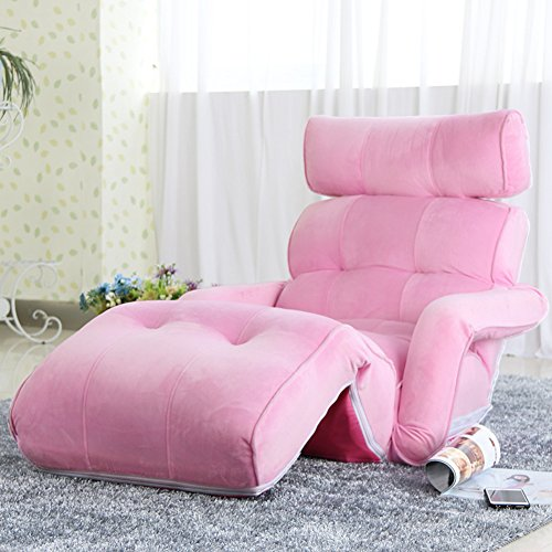 Private home textiles Tatami Floor Stuhl,Siesta Sessel,Folding Sofa,Person Mini Sofa,Lounge Chair Sofa-betten Herausnehmbaren Wasserdicht Liegestuhl-rosa