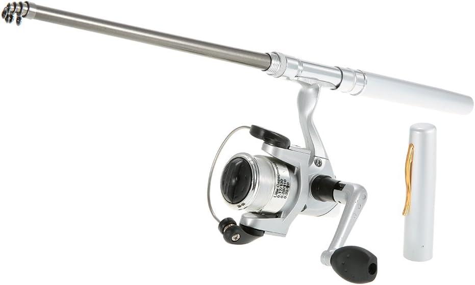 Docooler Max 79% OFF Fishing Rod Mini Pole depot Retractable wi Pen Pocket