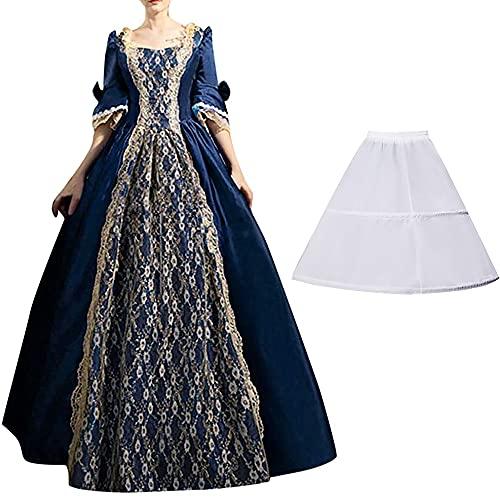 Disfraz de Renacimiento Medieval para Mujer, Vestido de Cosplay, Vestidos de fantasía de Halloween, Vestido gótico Dulce de Princesa Lolita, Vestido Retro B