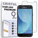 REY Protector de Pantalla para Samsung Galaxy J3 Cristal Vidrio Templado Premium