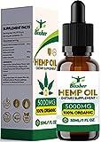 Gotas de aceite de semilla de cáñamo | Puro orgánico | Ayuda para dormir natural | para aliviar el dolor, la ansiedad y el estrés Ingredientes 100% naturales ricos en omega 3-6-9 y vitaminas