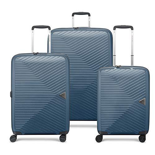 RONCATO Gama juego de 3 maletas rígidas ampliables (L, medio + cabina) Azul noche