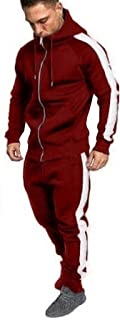 Mens Tracksuit Set Full Zip Long Sleeve Running Jogging Sportwear Suit