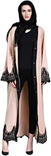 Robe for Women,LADYSHOP Muslim Embroidered Lady Long Sleves Islamic Clothing Lace Splicing Long Coat Middle East Long Abaya