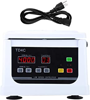 Electric Centrifuge Machine,4000R/min TD4C Tabletop Type Low Speed Centrifuge Machine for Laboratory(US Plug)