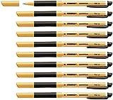 Penna Roller a inchiostro Gel - STABILO pointVisco - Confezione da 10 - Nero...