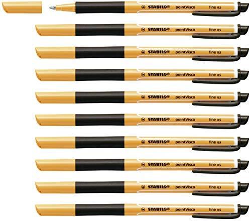 Tintenroller - STABILO pointVisco - 10er Pack - schwarz