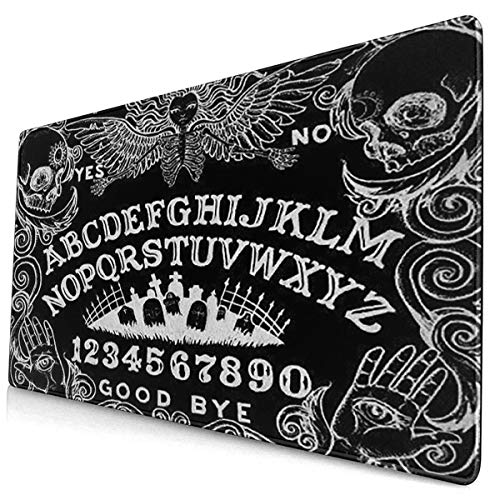 Custom Mouse Pad Ouija Board Black Desk Pad Mouse Mat Protector Large Gaming Keyboard Mat Large Mousepad Non Slip Rubber Base 15.7 X 29.5 Inch