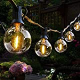 100Feet Outdoor String Lights LED,G40 Patio String Lights UL Listed Waterproof Outside String Lights Commercial Lighting Backyard Bistro Party Decor