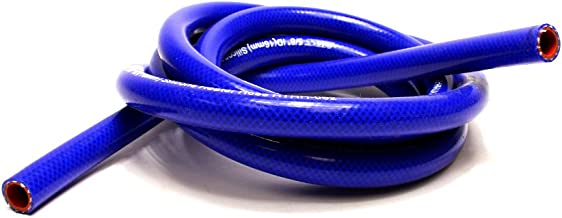 Bend Radius: 1-1//2 Bend Radius: 1-1//2 HPS Silicone Hoses HTHH-038-BLKx100 Max Temperature Rating: 350F Max Working Pressure 80 psi HPS 3//8 ID Black high temp reinforced silicone heater hose 100 feet roll