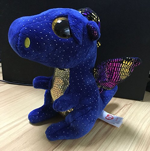 "Ty Beanies boos Beanie Boo Blue Dragon Saffire 6"" Plush Soft Stuffed Animal Toy"