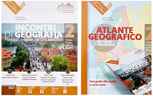 Incontri di geografia. Conoscere, scoprire, esplorare. Atlante geografico. Per la Scuola media. Con ebook. Con espansione online. Con DVD-ROM: 2
