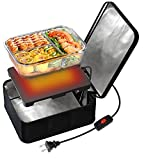 SabotHeat Mini Portable Oven - 110V-120V Portable Microwave with OFF/ON SWITCH for Reheating, Portable Food Warmer Lunch Box for Warming Lunch, Portable Lunch Box Warmer for Office/Travel (Black)