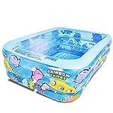 水浴び象さん プール 可愛い 底もフワフワ 足に優しい 3層構造 ビニールプール 約200×150×60cm