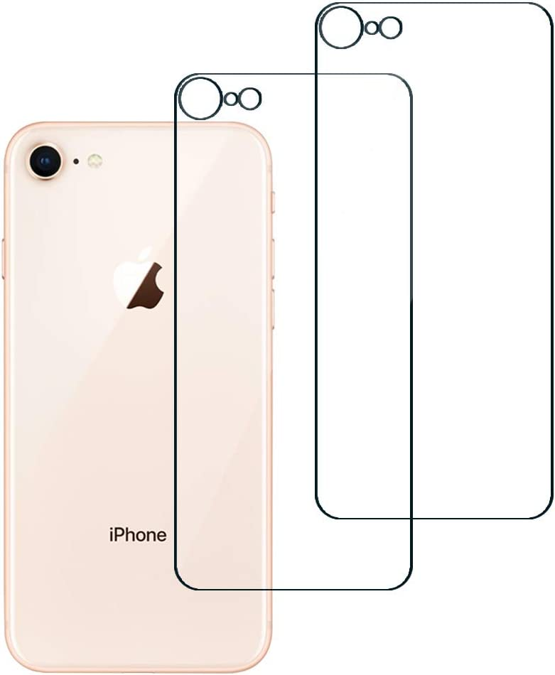 ROSAUI for iPhone SE 2020 Back Glass Screen Protector Tempered Glass Film Anti-Scratch Bubble Free Ultra Thin Case Friendly Easy to Install for iPhone SE 2nd generation/iPhone 8-2 Pack